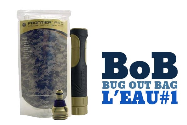 Bug out bag, l'eau : frontier pro
