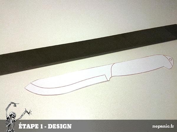 Forge d 39 un couteau dans une lime nopanic - Comment bien aiguiser un couteau ...