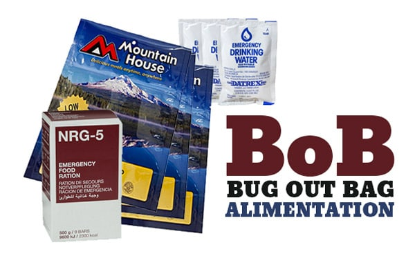 Bug out bag - Alimentation