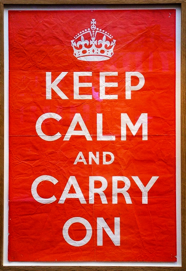 keep calm and carry on - Poster original 1939