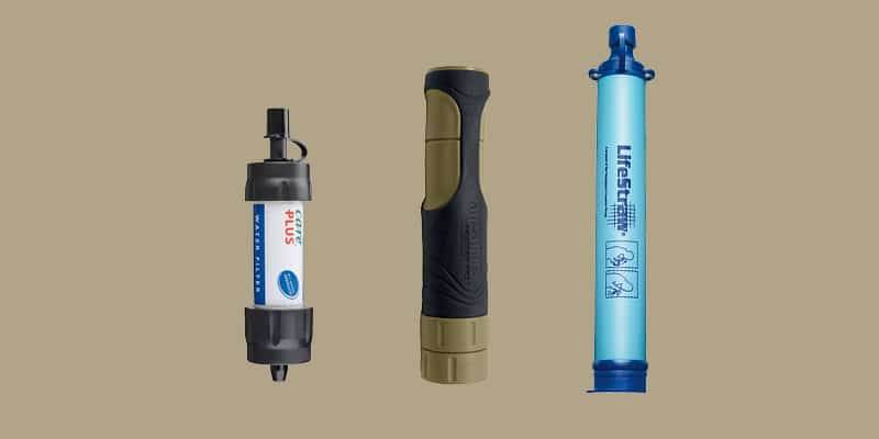 Comparatif Filtre Care plus, frontier Pro et Lifestraw